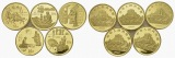 PEUS China 50 Yuan-Set GOLD (5x 1/2 Unze) PEUS China 50 Yuan-Set GOLD (5x 1/2 Unze) 1993 Proof (berührt m.winzigen roten F