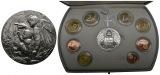 PEUS 5911 Vatikan Euro-KMS (8 Münzen) + Silbermedaille PEUS 5911 Vatikan Euro-KMS (8 Münzen) + Silbermedaille 2003 Proof 41,62 g Feinsi