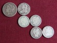 USA 50 Cents 1832 - 1/2 Dollar 1854 bis 1912 - 1 Dollar 1884 K...