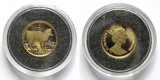 Isle of Man: 1 Crown 1988 Manx cat KM 235, ca. 1/25 Oz Gold Au 999/1000 Kleinste Goldmünzen der Welt