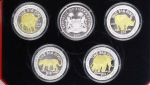 Sierra Leone Set The Big Five, 5 x 10 $ 2001, im Orig.-Etui m. Zertifikat