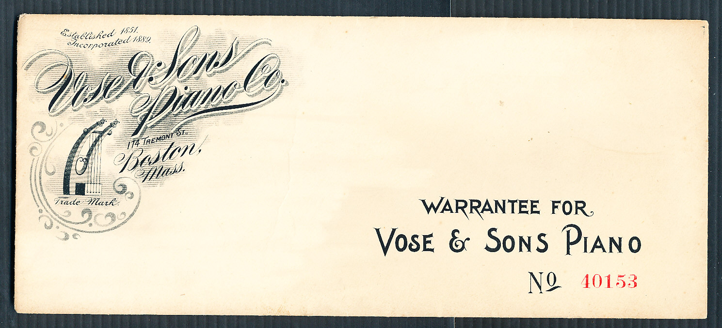 Muenzauktion.com 2257491 - USA. Vose & Sons Piano Co ...