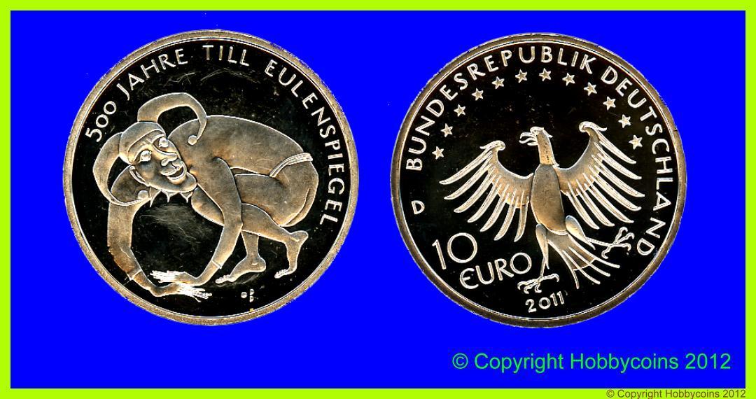 Muenzauktioncom 2316246 Brd 10 Euro Till Eulenspiegel 2011 D 10