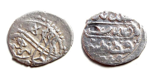 ISLAMIC OTTOMAN TURKEY / Ibrahim I (1640-1648), the Mad / AR Beshlik(5 akces) AH 1049 rare / KM 71.2