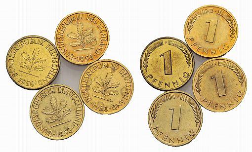 Muenzauktioncom 2341072 Brd 1 Pfennig 1950 J 4 Stück
