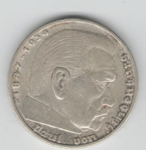 Muenzauktioncom 2364227 5 Reichsmark Deutsches Reich Hindenburg