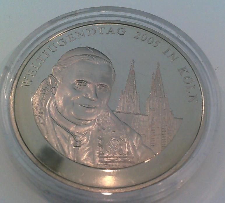 Muenzauktioncom 2452815 Medaille Weltjugendtag 2005 In Köln Papst