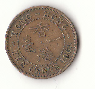 10 cent Hong Kong 1963 (G508)