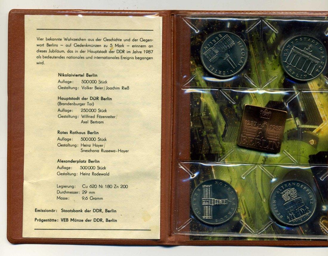 Muenzauktioncom 2546119 Münztasche 750 Jahre Berlin Mit 4x5 Mark