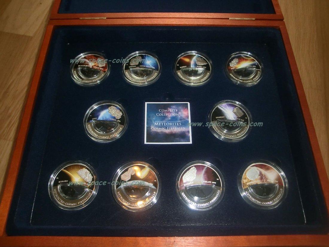 Muenzauktioncom 2816397 Fiji Meteoriten Münzen Cosmic Fireballs