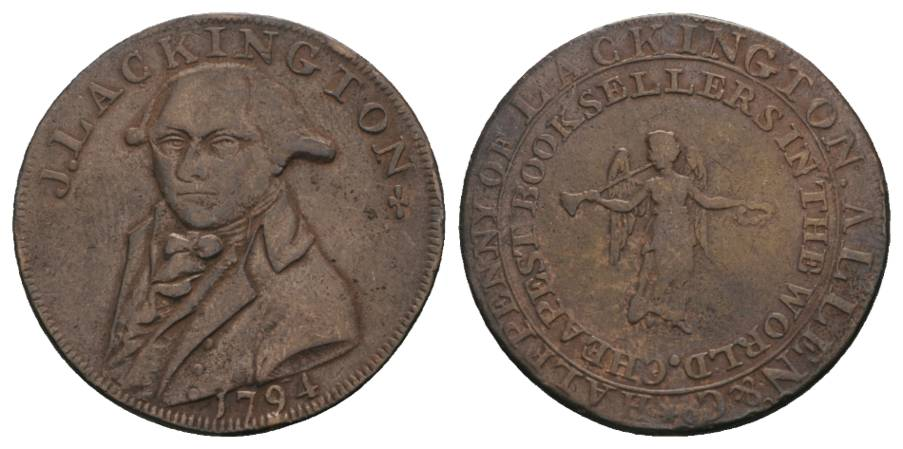 TOKEN, half penny, J.Lackington 1794
