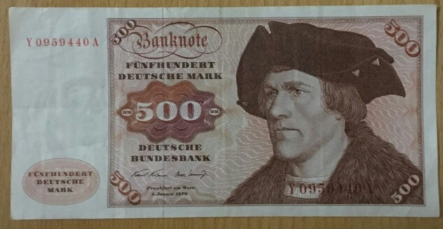 500 DM Deutsche Mark 2.Januar 1970 Y/A