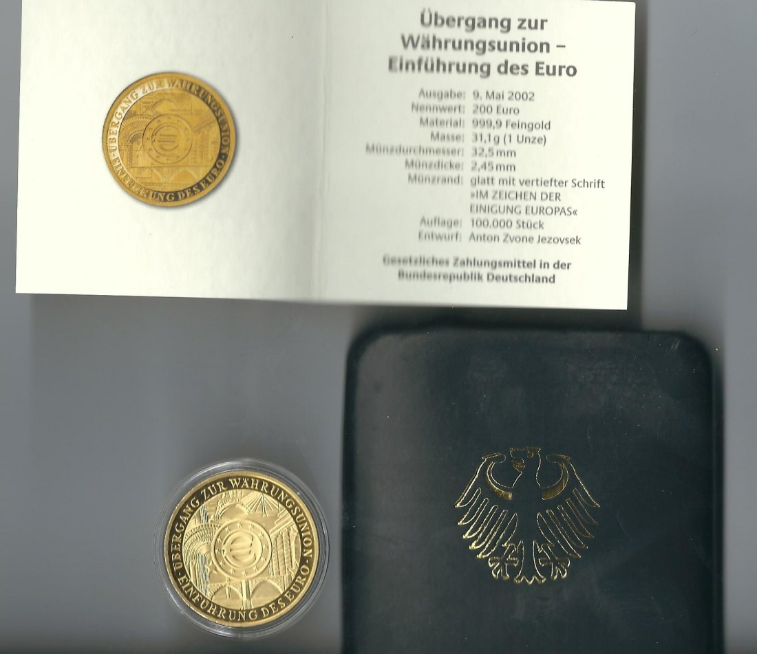 2831303 brd gold 200 euro 2001 31 1 gramm feingold pr gest tte g karlsruhe. Black Bedroom Furniture Sets. Home Design Ideas