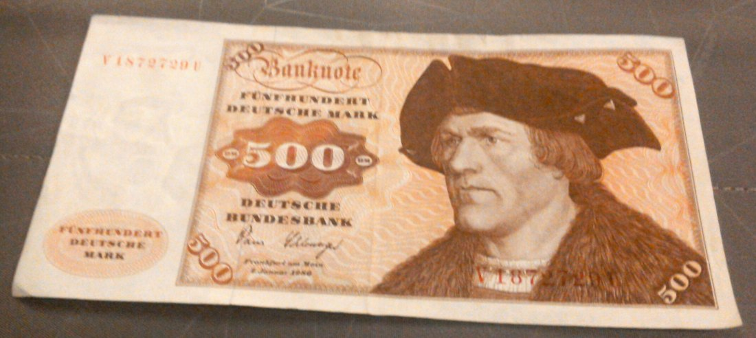 500 DM Deutsche Mark 2.Januar 1980