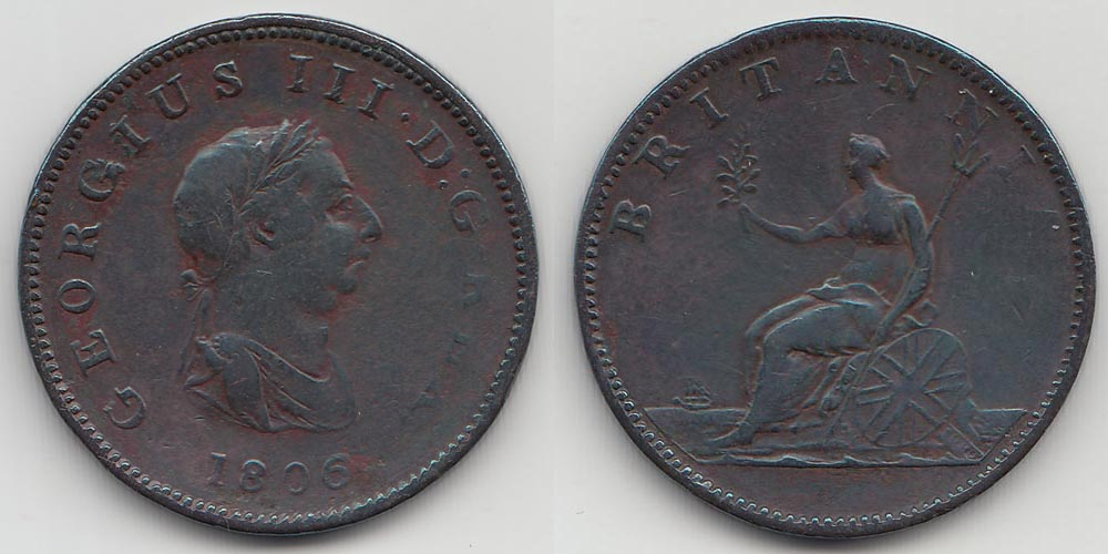 Great Britain ½ Penny 1806