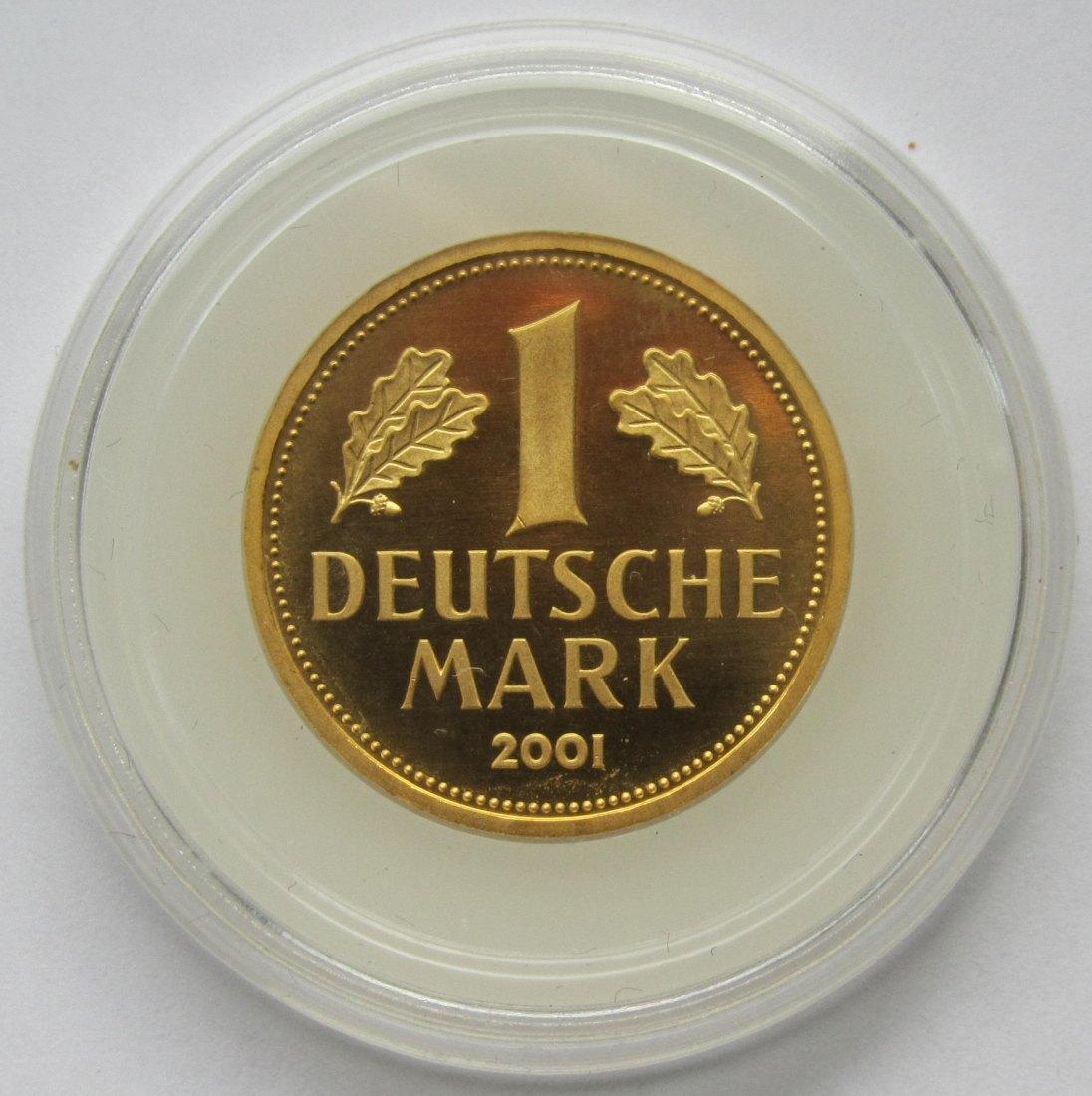 2810749 deutschland 1 dm gold 2001 a. Black Bedroom Furniture Sets. Home Design Ideas