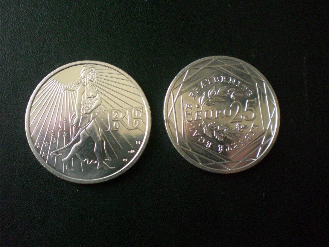 25 Silber-EURO 2009 Proof Frankreich.