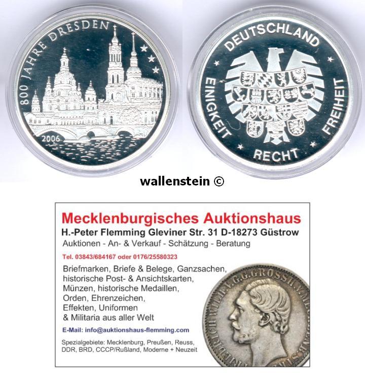 Muenzauktioncom 2827781 Medaille 800 Jahre Dresden Frauenkirche