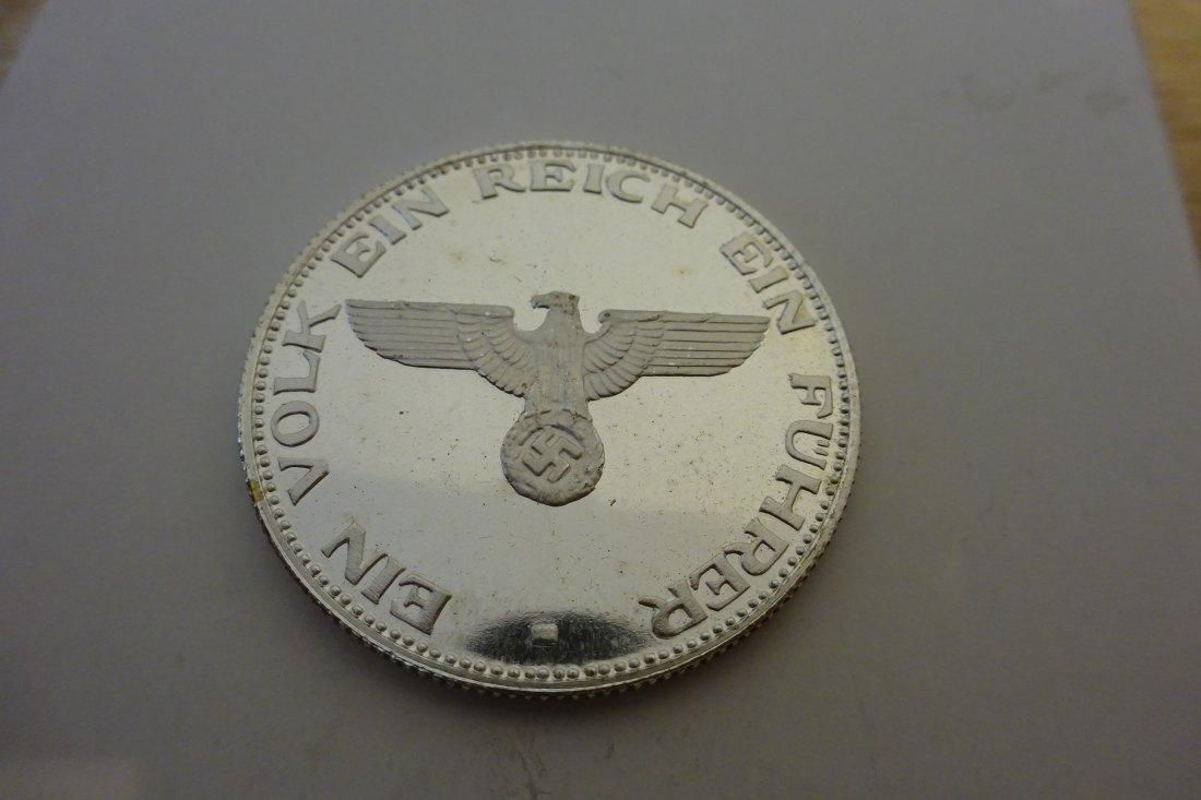Muenzauktioncom 2831171 Silber Medaille Adolf Hitler 1889 1945