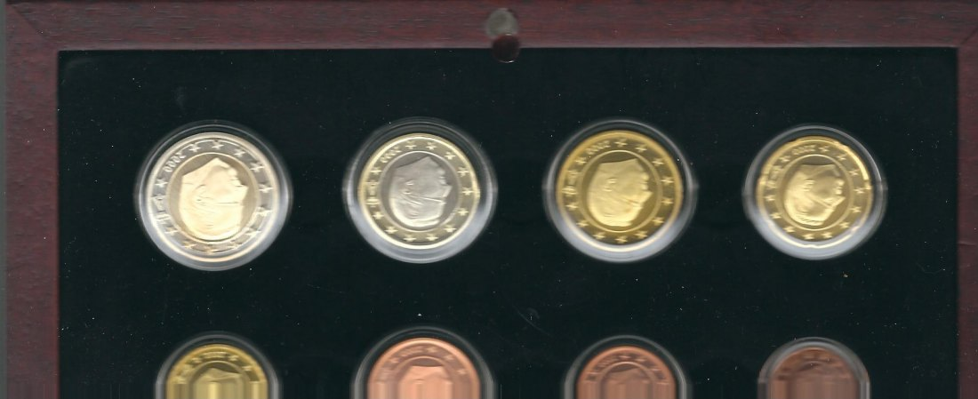 Belgien Triple Set 1999,2000,2001 in Proof  PP in OVP KMS Koblenz