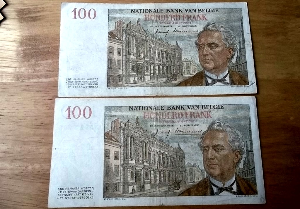 Banknoten: Belgien Lot No 5