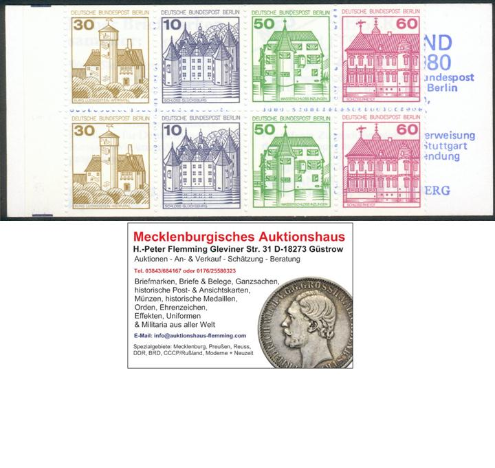 Berlin, MH 12a  oZ**, Michel 18 €, pracht