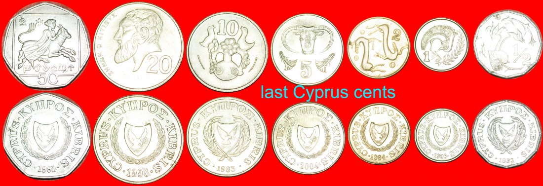 ★LAST TYPE: CYPRUS ★ 1/2-1-2-5-10-20-50 CENTS! LOW START★NO RESERVE!