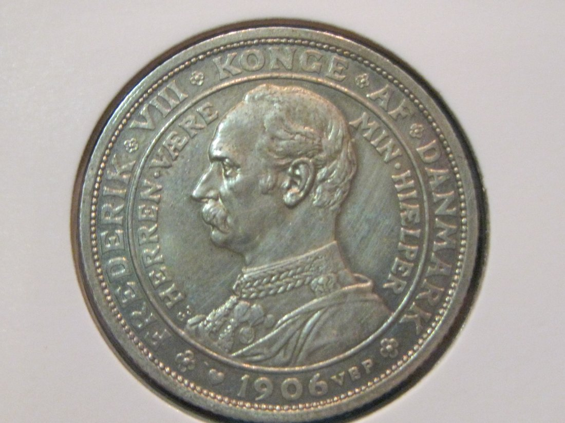 DENMARK 2 KRONER 1906.GRADE-PLEASE SEE PHOTOS.