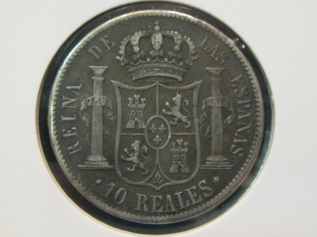 SPAIN 10 REALES 1853.GRADE-PLEASE SEE PHOTOS.