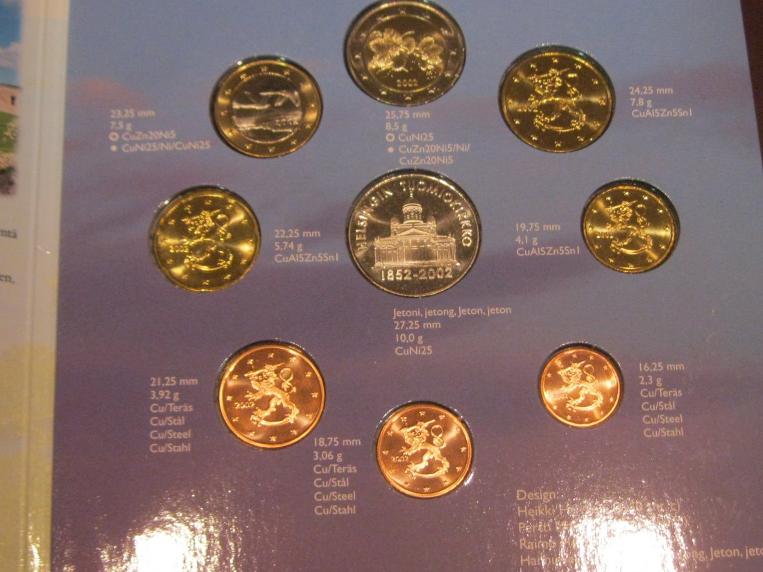 FINLAND 2002 EURO SERIE.GRADE-PLEASE SEE PHOTOS.