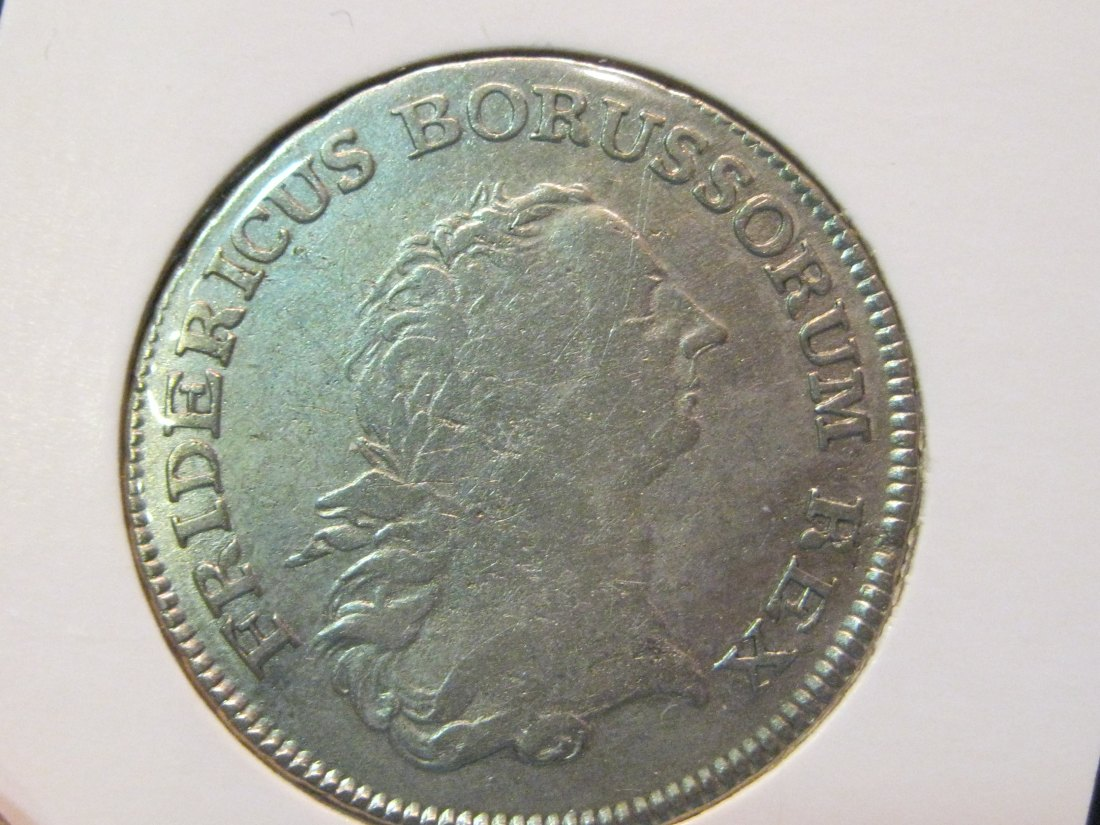 GERMANY 1/2 THALER 1765A PRUSSIA.GRADE-PLEASE SEE PHOTOS.