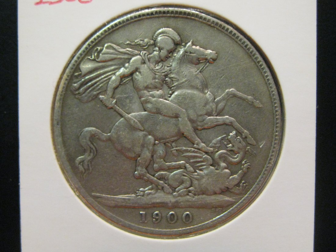 GREAT BRITAIN 1 CROWN 1900.GRADE-PLEASE SEE PHOTOS