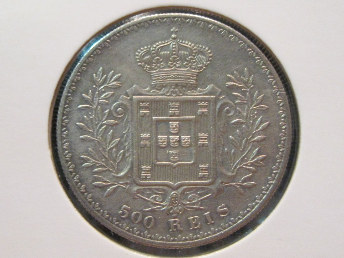 PORTUGAL 500 REIS 1895.GRADE-PLEASE SEE PHOTOS