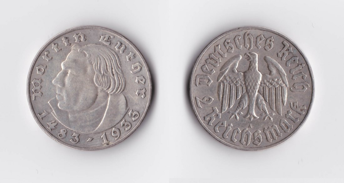 2 Reichsmark Luther 1933
