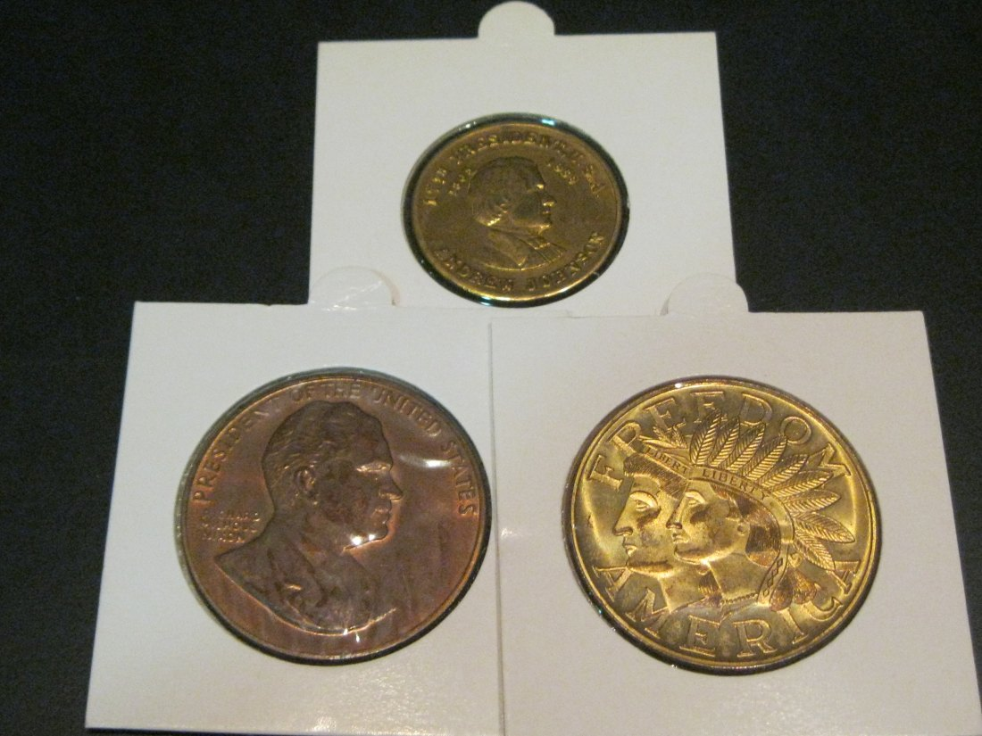 USA 3X MEDALS JOHNSON-NIXON-1776-1976 FREEDOM.GRADE-PLEASE SEE PHOTOS.