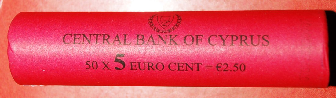 √ FINLAND: CYPRUS ★ 5 CENTS 2009 UNC ROLL! LOW START ★ NO RESERVE!!!
