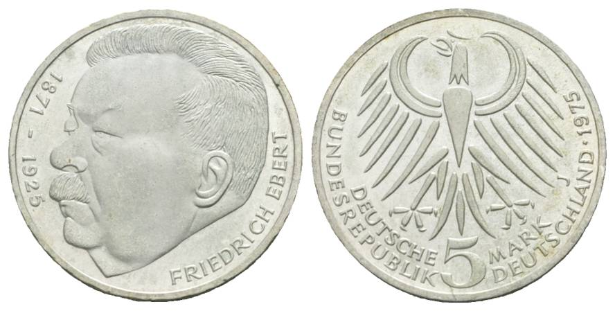 BRD Gedenkmünze, 5 Mark 1975 J