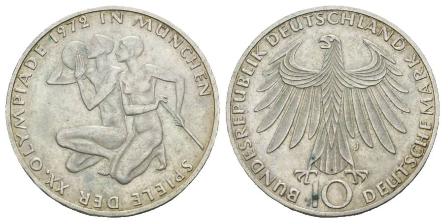 BRD Gedenkmünze, 10 Mark 1972 J