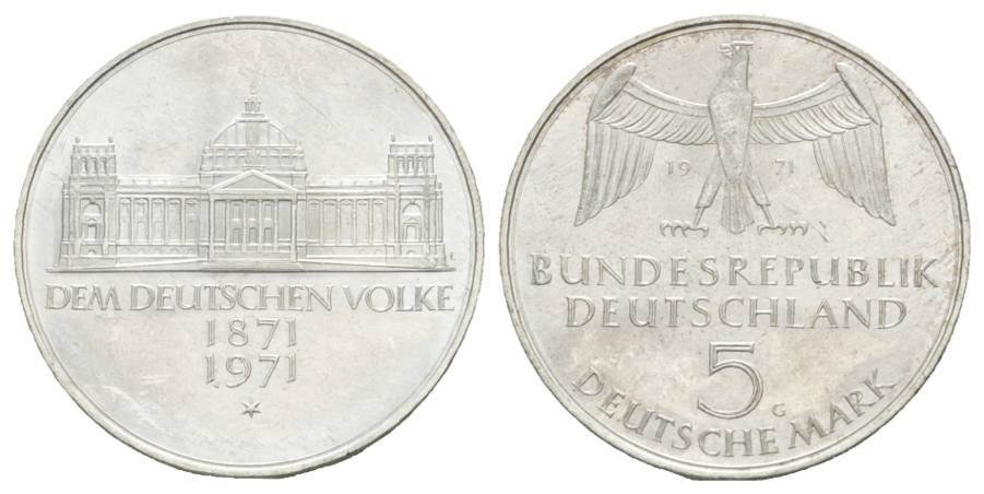 BRD Gedenkmünze, 5 Mark 1971 G