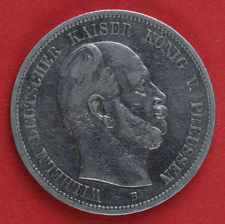 Muenzauktioncom 2886266 Deutsches Reich Fünf Mark 1876 Wilhelm