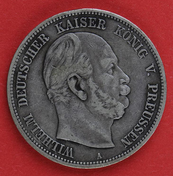 Muenzauktioncom 2886270 Deutsches Reich Fünf Mark 1876 Wilhelm