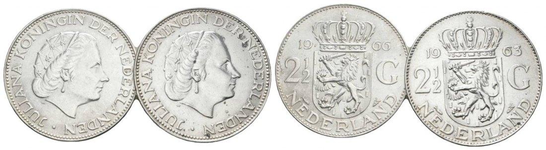 Muenzauktioncom 2897510 Niederlande 2 12 Gulden 19661963 2