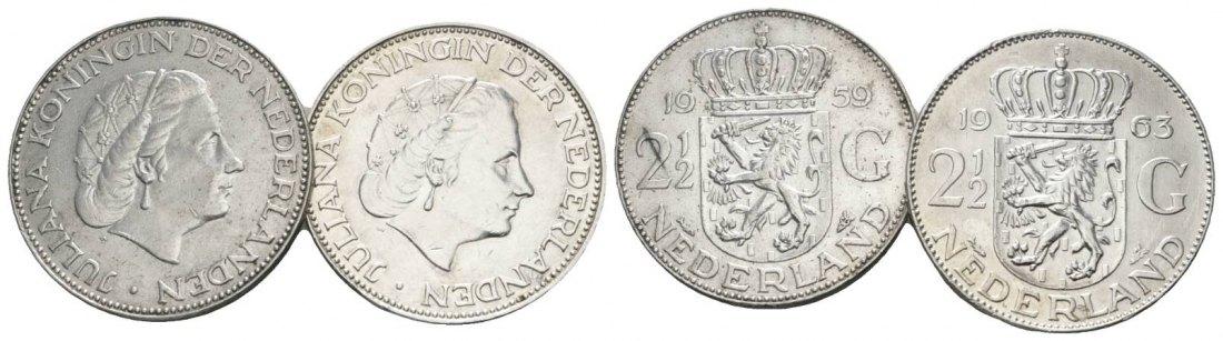 Muenzauktioncom 2897511 Niederlande 2 12 Gulden 19591963 2