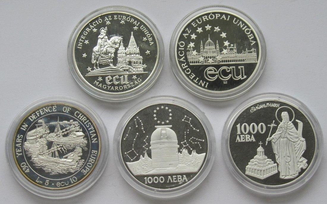 Muenzauktioncom 2899598 Osteuropa Lot Aus Fünf Ecu Münzen
