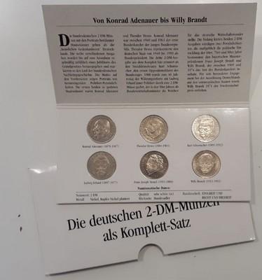 Muenzauktioncom 2902321 Brd Komplett Satz Der Deutschen 2dm