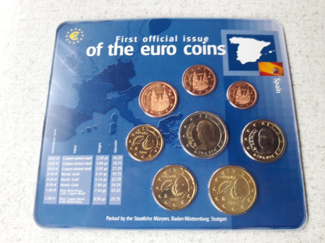 Muenzauktioncom 2905119 Kms Lose 8 Münzen 1 Cent 2 Euro 2001