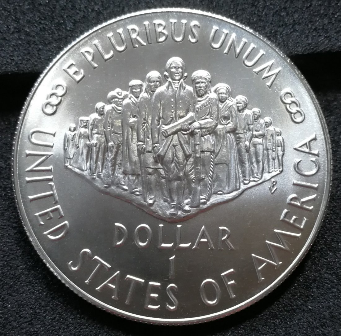 USA 1$ one Dollar 1987 P Philadelphia 200th Anniversary of the Constitution Silber Münze Coin