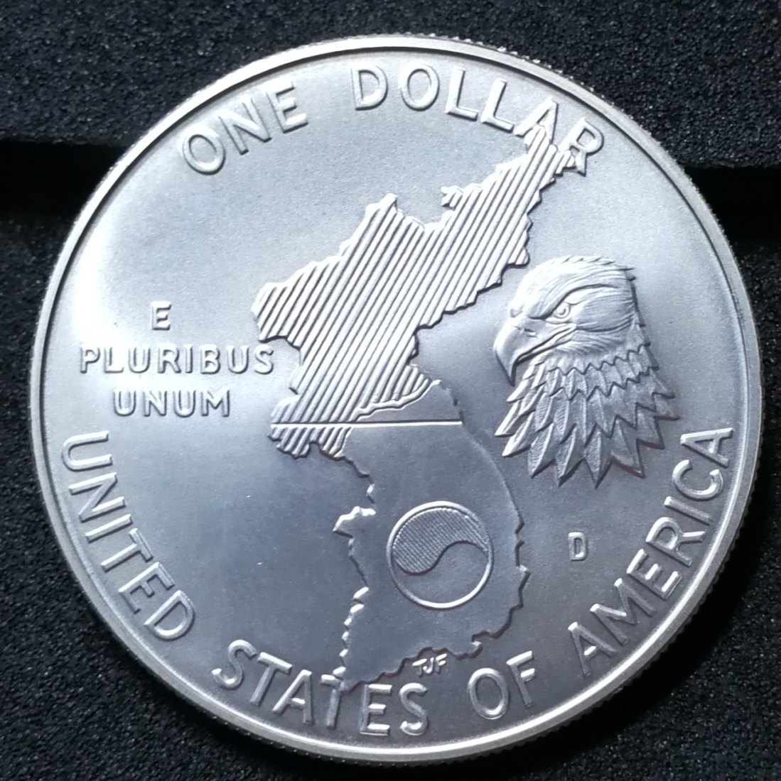 USA 1$ one Dollar 1991 D Denver 38th Anniversary Korean War Silber Münze Coin
