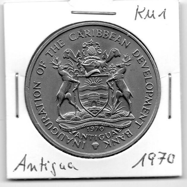 Antigua 4 Dollars 1970 Kupfer-Nickel +++Ordner004+++