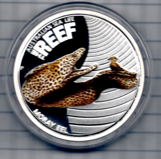 Australia 50 Cents 2010 Silber PP The Reef Muray Eel  +++K003+++